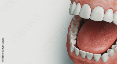 Dental care, 3d rendering - 255606318