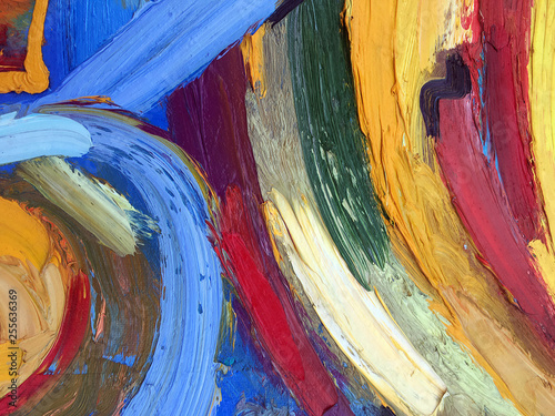 Pasty oil painting with real paint texture. Abstract contemporary art. Light painting abstract background. Modern expressionistic texture for creating the banner, poster, and other design.