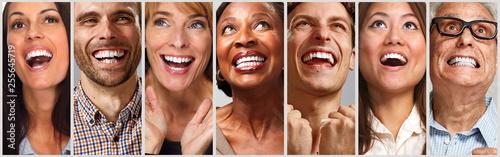 Happy people faces set © Kurhan