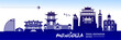 Mongolia travel destination vector illustration. - 255653166