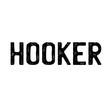 hooker stamp on white