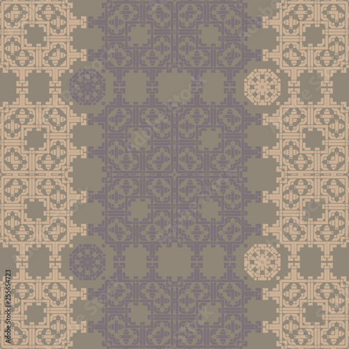 Asian look square geometric seamless pattern