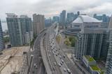 Panorama of Toronto above Gardiner Expressway