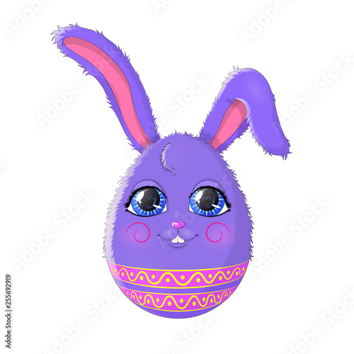 Vector illustration. Cartoon Easter Bunny isolated on white background. EPS 10