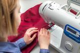 Concept seamstress, sewing business. Workshop on tailoring. Designer, fashion designer