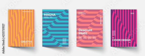 Creative geometric covers design. Linear pattern design. Eps10 vector. © plasteed