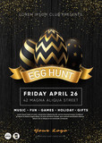 Easter Egg Hunt Party flyer template.