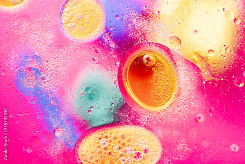 abstract background with bubbles - 255732597