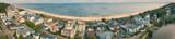 Stadtbild Bansin mit Strand Panorama