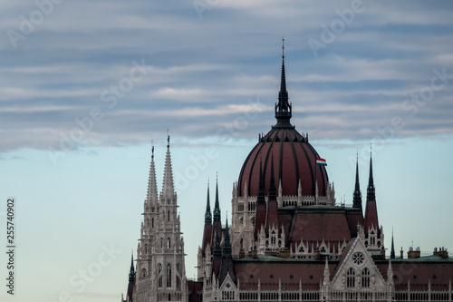 The famous parliament in Budapest, capital of Hungary - 255740902
