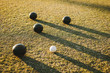 Boules lying on the ground