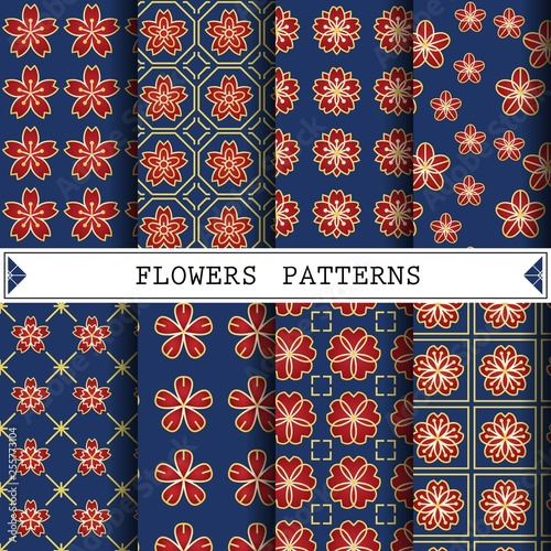 flower vector pattern for web page background or surface textures © kaokiemonkey