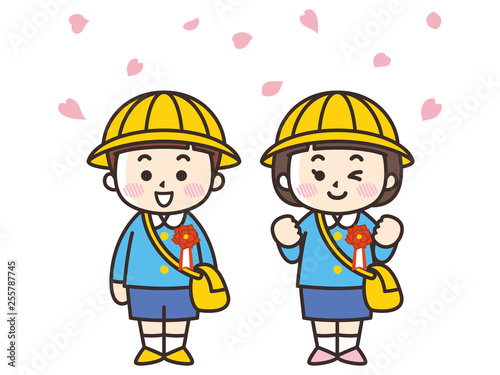 入園式の保育・幼稚園児の男女