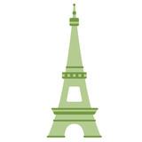 Fototapeta Fototapety z wieżą Eiffla - eiffel tower flat illustration © lkeskinen