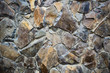Texture of a stone wall. Old castle stone wall texture background. Part of a stone wall, for background or texture