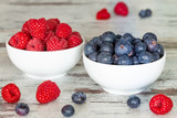 Forest fruit, raspberries and berries, delicious seasonal fruits