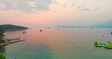"Постер, картина, фотообои ""People swimming in sea. Summer vacation in resort for families."""