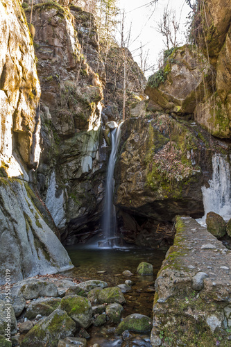 Amazing view of Kostenets waterfall, Rila Mountain, Bulgaria