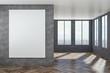 Leinwanddruck Bild - Modern interior with empty poster