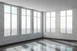 Leinwanddruck Bild - Contemporary concrete office interior