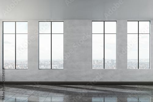 Leinwanddruck Bild Modern concrete office interior