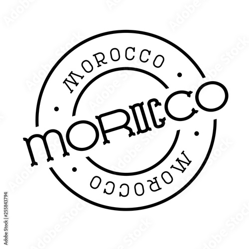 morocco stamp on white