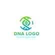 DNA vector logo design template