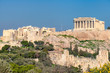 The Acropolis of Athens, with the Parthenon Temple, Athens, Greece.
