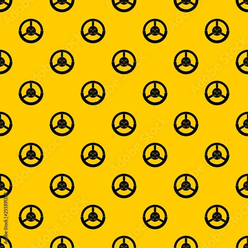 Steering wheel pattern seamless vector repeat geometric yellow for any design - 255891302