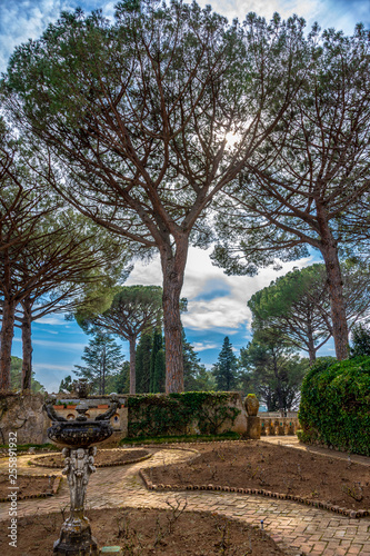 Villa Cimbrone garden, from Ravello, Italy