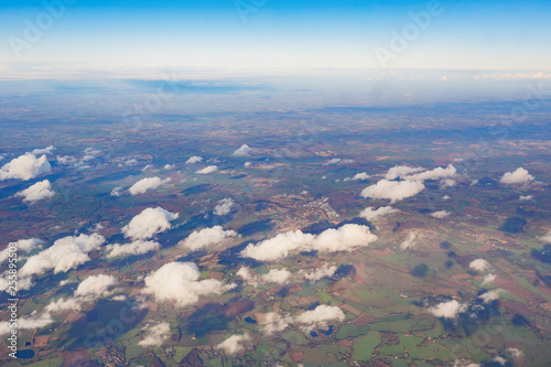 Aerial view around Germany's country side
