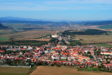 The town of Spisske Podhradie, Slovakia. View from the Spis Castle