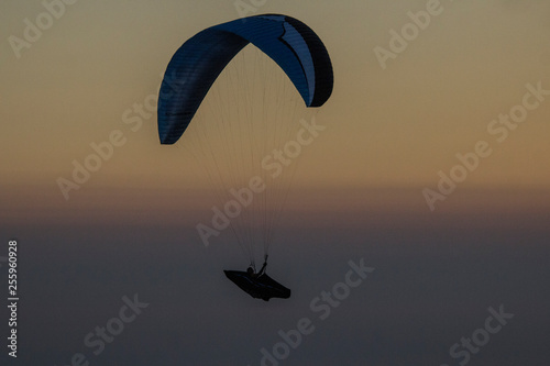 paraglider at sunset © Nicky