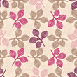Seamless abstract pattern with floral ornament of leaves. - 255970177