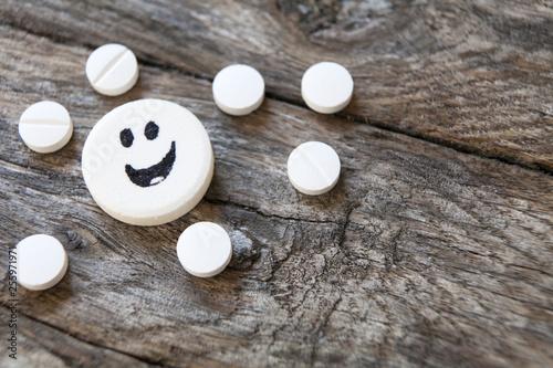 anti-dépresseur en capsule souriante