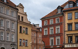 Colourful houses in Warsaw Old Town.