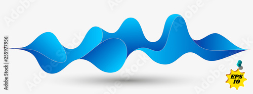 Abstract Fluid creative templates with dynamic linear waves.cards, color covers set. Geometric design.Cool curl wave header element. Modern bright colors. © kasheev