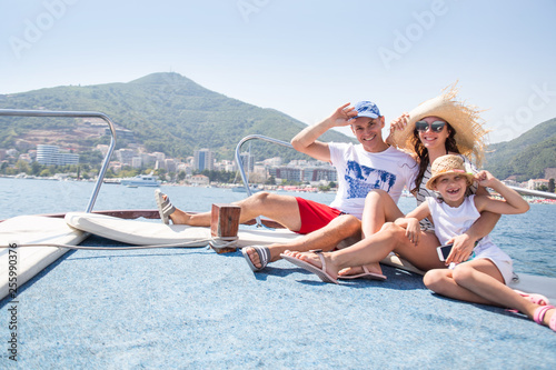 Leinwandbild Motiv vacation on a yacht