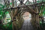 Fototapeta Bambus - Bamboo Bridge in Lembang Indonesia © Ivan Yohan