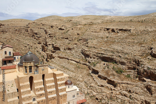 The Mar Saba Monastery, Laura of our Holy Father Sabbas the Sanctified in the Kidron Valley, in the Judaean desert known as the Judean wilderness and surroundings, near Betlehem, Palestinian, Israel