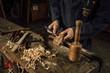 details of craftsmanship of wood - 256018129