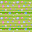 Illustrated seamless striped pattern with circles