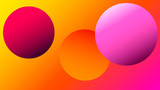 Colorful blurred background with circles. Modern abstract gradient card. Business poster. Vector illustration.   - 256066342