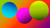 Colorful blurred background with circles. Modern abstract gradient card. Business poster. Vector illustration.   - 256066367