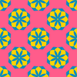 Seamless pattern with colorful flowers. Floral ornament background. Vector illustration.   - 256066540