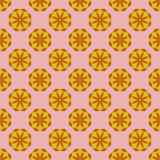 Seamless pattern with colorful flowers. Floral ornament background. Vector illustration.   - 256066566