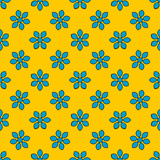 Seamless pattern with colorful flowers. Floral ornament background. Vector illustration.   - 256066766