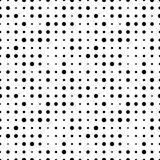 Black and white seamless pattern with grunge halftone dots. Dotted texture. Halftone dots background. Polka dot infinity. Abstract geometrical pattern of round shape.Screen print. Vector illustration - 256067110