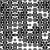 Seamless pattern with halftone flowers. Floral ornament background. Vector illustration.    - 256067133