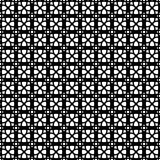 Black and white seamless pattern with lace, grid, thin line geometric shapes, texture infinity. Abstract geometrical background. Vector illustration.  - 256067364